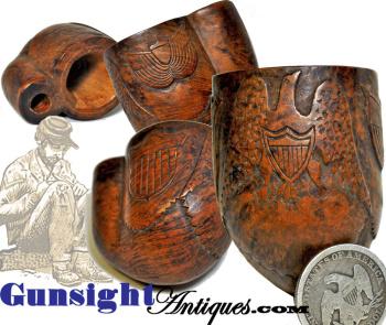 Civil War carved PATRIOTIC TOBACCO PIPE (Image1)