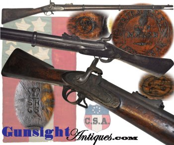 Rare! Confederate Sinclair Hamilton & Co. marked Edward Middleton- Enfield Rifle Musket (Image1)