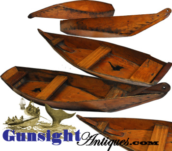Rare!   handcrafted  Whaling Skiff BUILDER'S MODEL (Image1)