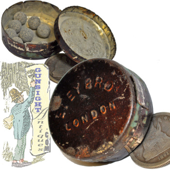 original ELEY BROs LONDON – PERCUSSION CAP TIN (Image1)