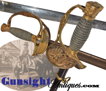 Rare! Civil War Production Ames - General Staff & Staff Corps grade – Mod.1860 Staff Sword  (Image1)