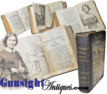 Jan. 1843 through July 1850 bound -  MOTHER'S ASSISTANT & YOUNG LADY'S FRIEND (Image1)