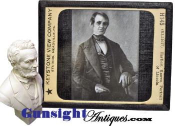 early beardless Lincoln - LANTERN SLIDE (Image1)