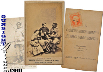 original ! Civil War pro Abolition- 'Learning is Wealth'- Freedman's Relief Association - CDV (Image1)