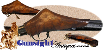 rarely surviving! 18th early 19th century - Deer Hide FLINTLOCK BOOT (Image1)