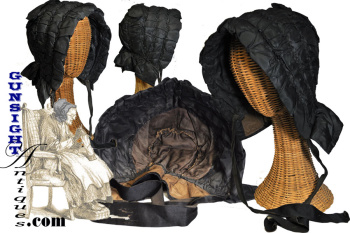 Earlier To Mid-19th Century - Ladies Mourning Bonnet