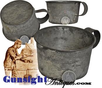 original Civil War era TIN CUP (Image1)