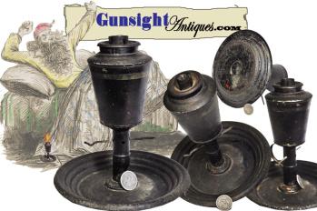 Museum Deaccession - Samuel Davis Pat. May 6, 1856 Grease Lamp   (Image1)