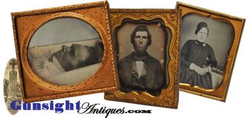 outstanding 'before & after' Postmortem Daguerreotype group  (Image1)