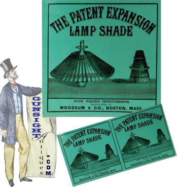 3rd quarter 19th century - Patent Expansion Lamp Shade – BOX LABEL (Image1)
