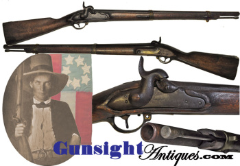 Civil War import - 1809 U/M Potsdam Musket – period alteration to Musketoon   (Image1)