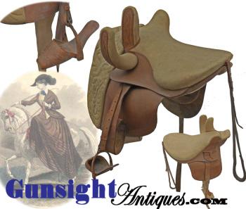 c. 1840s - 1850s extra quality - Side Saddle with Slipper Stirrup (Image1)