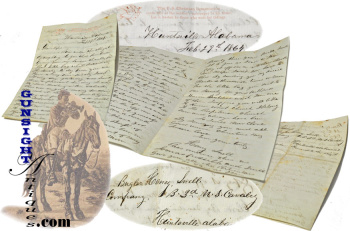 1864 LETTER – Christian Commission Thank You from a 3rd U. S. Cavalry Bugler  (Image1)