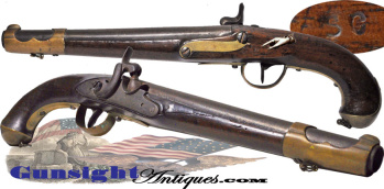 S C marked - Civil War import  Austrian Cavalry Pistol  (Image1)