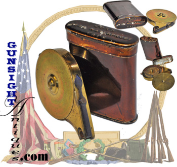 rare! near as new condition!   original Civil War era Percussion Capper with full Cox's Percussion C (Image1)