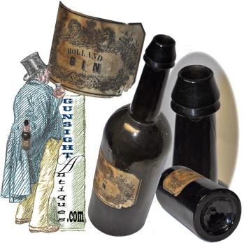 antique HOLLAND GIN - Bottle (Image1)
