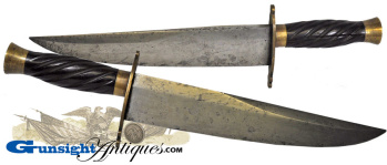 outstanding 2nd quarter / 19th century -  Hand Made BOWIE KNIFE (Image1)
