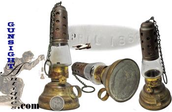 Civil War vintage Pat. 1864 personal size OIL LANTERN (Image1)