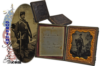 outstanding! armed & well equipped - Identified 6th plate TINTYPE (Image1)