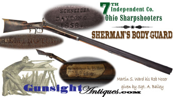 rare!  E. Remington Jr. barreled - Ohio made & 7th Ohio Sharpshooters carried – SHARP SHOOTER RIFLE (Image1)