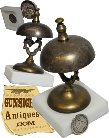 Civil War era Pat. 1856 & 1863  - Desk or Counter BELL (Image1)
