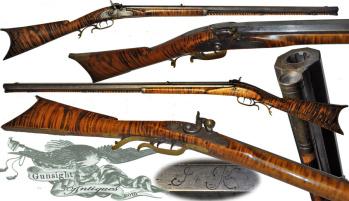 rare!  mid 1800s – Jones & Kelsall - PERCUSSION RIFLE (Image1)