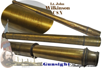Spencer Browning &Co. Telescope of - Civil War - CONFEDERATE BLOCKADE-RUNNER - Lieut. John Wilkinson (Image1)