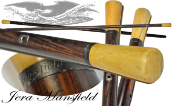 Massachusetts to California '49er' -  inscribed WALKING STICK (Image1)