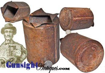 rarely surviving Civil War vintage - RATION CAN (Image1)