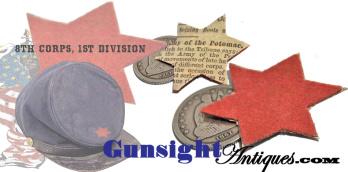 Civil War surplus - W. Stokes Kirk Phila. – 8th Corps, 1st Division BADGE (Image1)