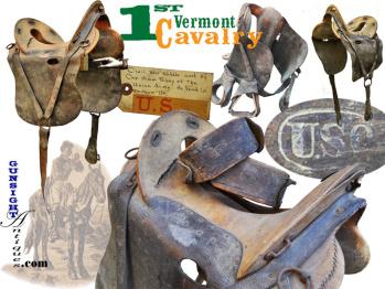1st Vermont Cavalry -  M 1859 McClellan Saddle (Image1)