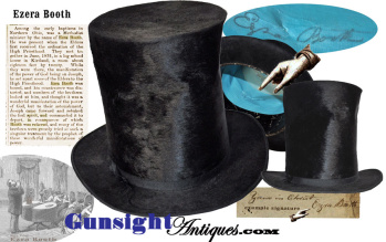 Stove Pipe Hat – of early LDS / Mormon Leader, 'High Priest' Ezra Booth (Image1)