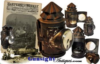 original! Civil War vintage - 'BULLS EYE' / DARK LANTERN (Image1)