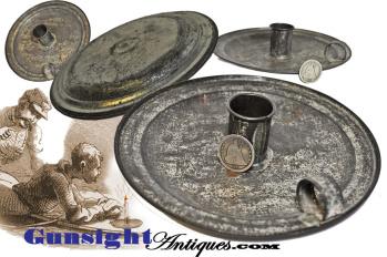 original! Civil War vintage CANDLE HOLDER (Image1)