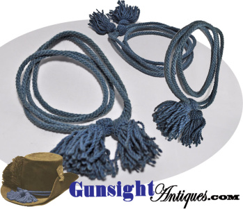 original!  enlisted Civil War issue Blue Worsted Wool – INFANTRY HAT CORD (Image1)