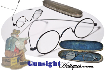 exceptionally nice - Civil War era Spectacles in 1861 dated case (Image1)