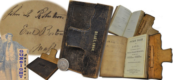 1860 Boston Carpenter / Shipwright's POCKET DIARY  (Image1)