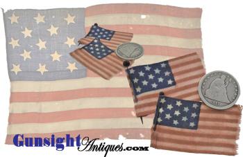 period Civil War pattern - 13 star LAPEL FLAG (Image1)