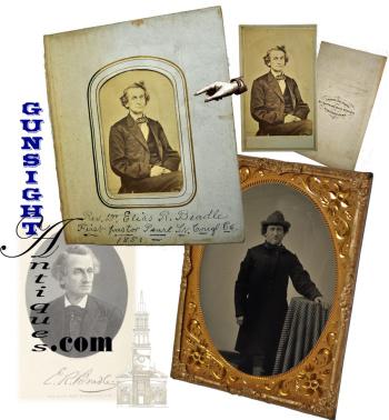 ¼ plt. Tintype & CDV of:  controversial Civil War era Clergyman / Orator  -  Rev. Elias Root Beadle (Image1)