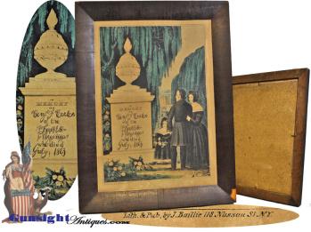 July 1863 – Benjamin F. Carter - MEMORIAL LITHOGRAPH (Image1)
