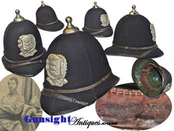 late 1800s early 1900s British Bobby Helmet – Kingston upon Hull Police  (Image1)