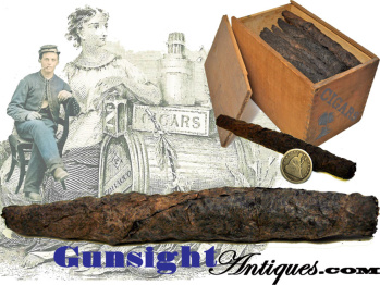 rarely encountered! original & individually priced - mid 1800s - Hand Rolled Cigar (Image1)