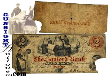 CIVIL WAR era   SANFORD MAINE NOTE (Image1)