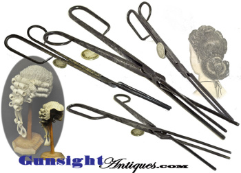 Colonial / Revolutionary War era hand wrought Wig or Hair CURLING IRON (Image1)