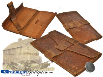 Civil War era and earlier LEATHER WALLET    (Image1)