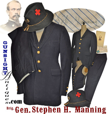 complete!  G. A. R. / Civil War Veteran uniform of Brig. General Stephen H. Manning – 1st & 5th Main (Image1)