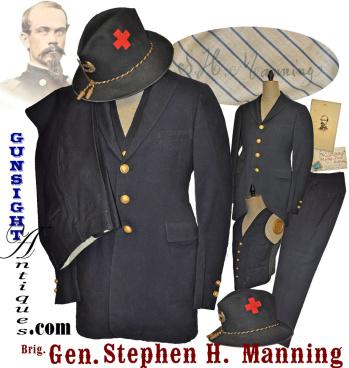 Civil War Veteran G. A. R. uniform of Brig. General Stephen H. Manning – 1st & 5th Maine (Image1)