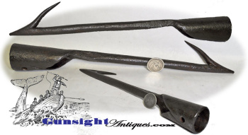 1700s early 1800s Hand forged Whaling Harpoon Head  (Image1)