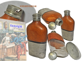 Civil War era - W. T. FRY Pat. 1863 TRAVELING FLASK & CUP (Image1)