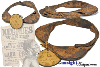 18th early 19th century forged iron Slave Collar (Image1)